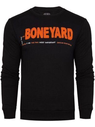 Bluza męska BONEYARD klasyczna z nadrukiem granatowa BY-SW 16