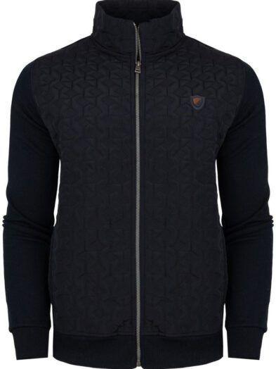 Bluza ze stójką zapinana na zamek czarna Art-8550