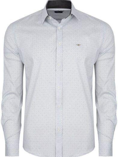 Koszula Boneyard Elegance bawełniana biała BY-1628