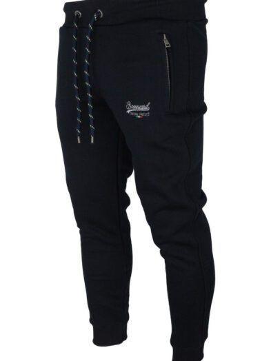 Spodnie Dresowe Bawełniane Czarne Art-8528