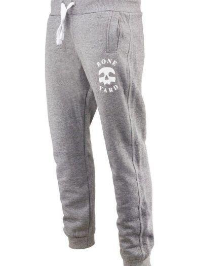 Spodnie Dresowe Męskie Bawełniane Skull Jasnoszare Art-7796