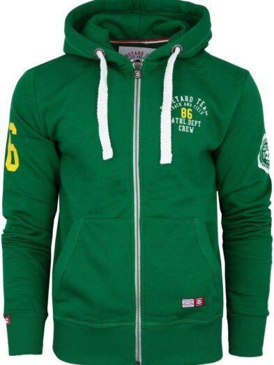 Bluza Boneyard Athletic rozpinana z kapturem zielona art-7804