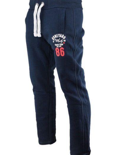 Spodnie Dresowe Męskie Granatowe Art-7827