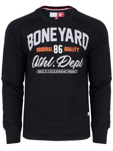 Bluza ATHLETIC męska bluza Boneyard czarna art-7962