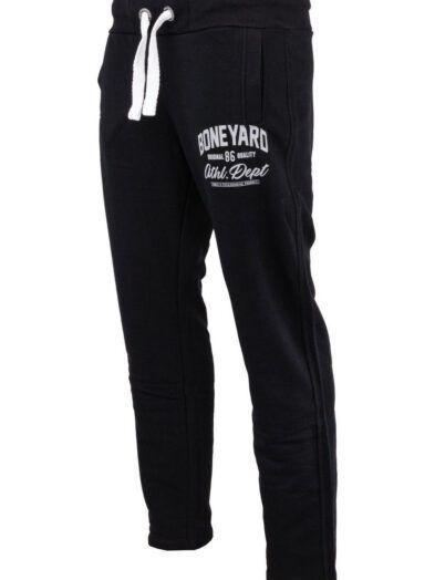 Spodnie Dresowe Bawełniane Athletic Czarne Art-7965
