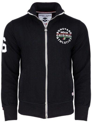 Bawełniana bluza ze stójką SPEED rozpinana czarna art-7966