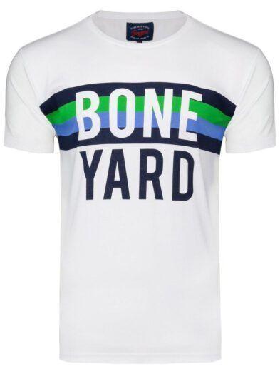 Koszulka T-shirt Męski z Nadrukiem Biała Art-8053