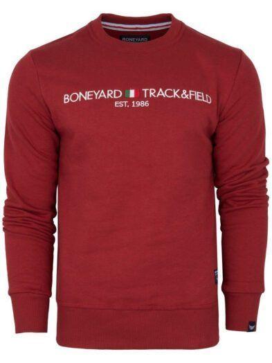 Klasyczna bluza męska Italy bordowa art-8202