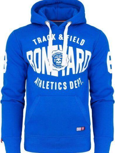 Bluza z kapturem Track & Field wkładana przez głowę niebieska art-7854