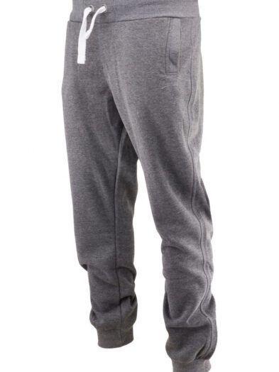 Spodnie dresowe duży rozmiar ze ściągaczem ciemnoszare art-7921