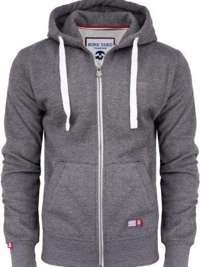 Bluza Premium duży rozmiar rozpinana z kapturem ciemnoszara Art-7919